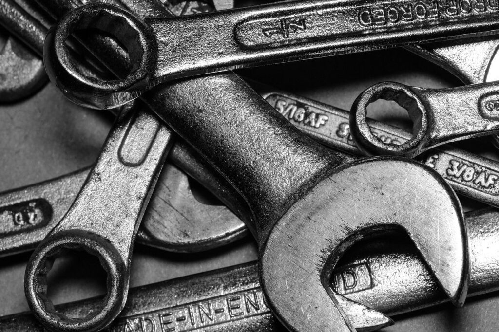 spanner, tool, wrench